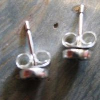 4mm Sterling Silver Teton Post Earrings