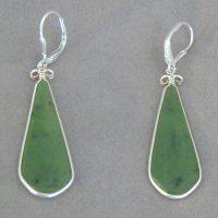 wyoming jade silver earrings