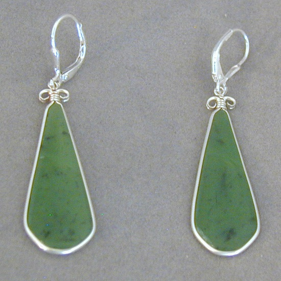 wyoming jade silver earrings