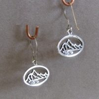 Small Pierced Mountains Earrings