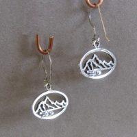 Small Pierced Mountains Earrings