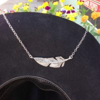 SterlingSilver Feather Necklace