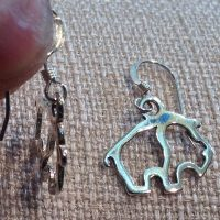 Sterling Bison Outline Earrings