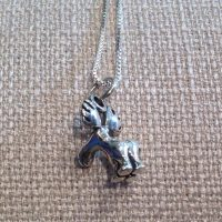 Sterling Comical Moose Pendant Necklace