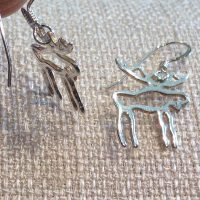 Sterling Moose Outline Pendant Necklace