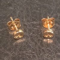 4mm Gold Mountain Post Earrings