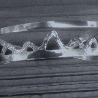 Sterling Silver Mountain Range Cuff Bracelet