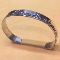 Narrow Teton Mountain Cuff Bracelet