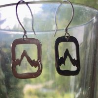 Cut Out  Sterling Mountain Earrings