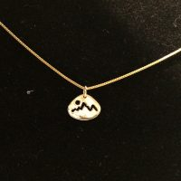 Small 14 K Gold Mountain Charm