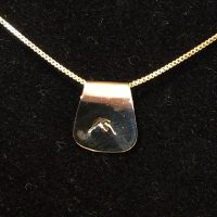 14 K Gold Stamped Mountain Necklace