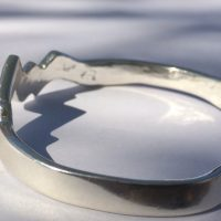 Heavweight original sterling silver Teton cuff bracelet