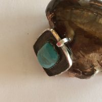 Rectangular Turquoise Sterling Pendant
