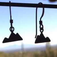 Sterling Silver Tiny Mountain Earrings