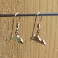 Gold Tiny Mountain Earrings