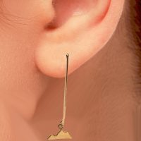 Tiny Mountain Earrings Choice of Gold, Silver and several ear wires