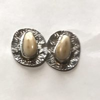Sterling Silver Elk Ivory Cuff Links 2